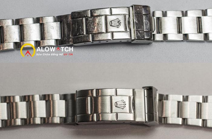 đồng hồ dây bạc