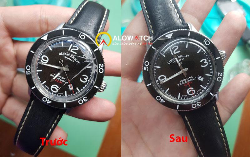 thay mặt kính cho đồng hồ Armand Nicolet