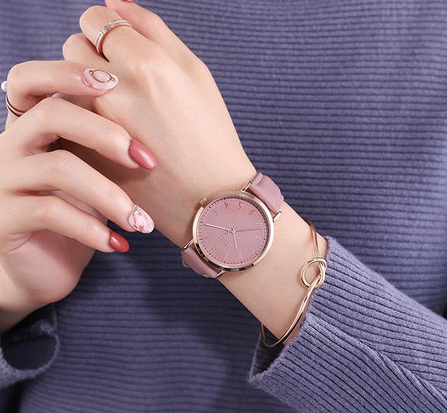 Đồng hồ dây da nữ Julius JA-1017