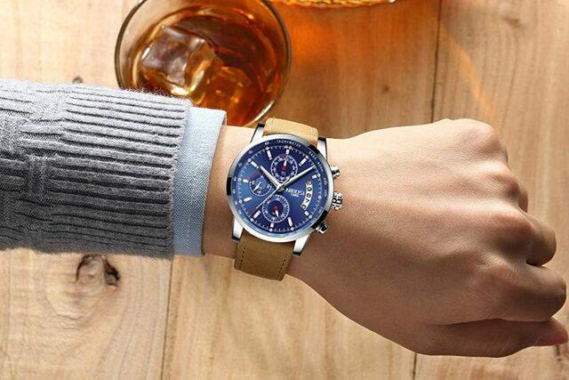 Đồng hồ dây đeo da NIBOSI 2327