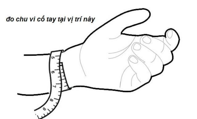 Đo chu vi cổ tay